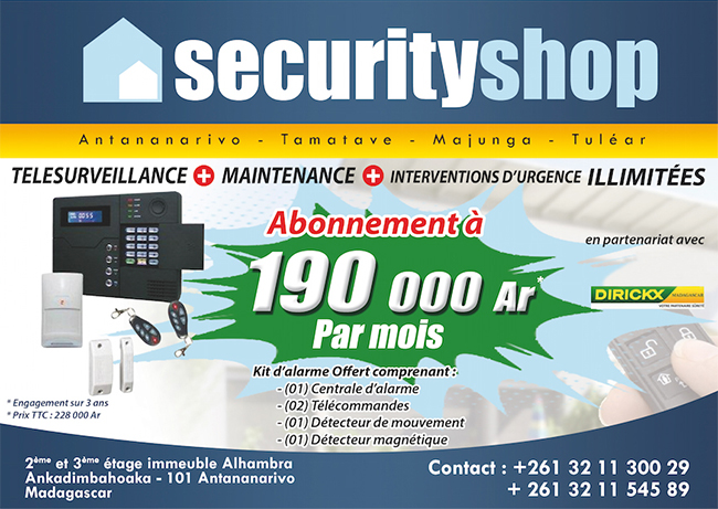 Pop Up Dirickx Securityshop